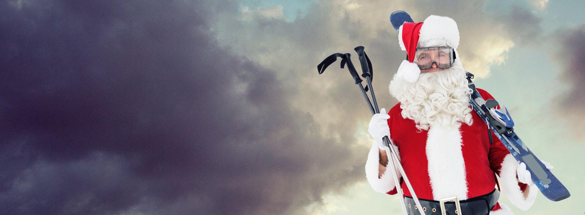 mikołaj na nartach