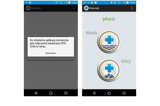 aplikacja ratunek