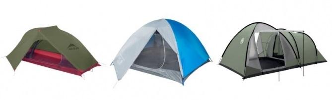 typy namiotów