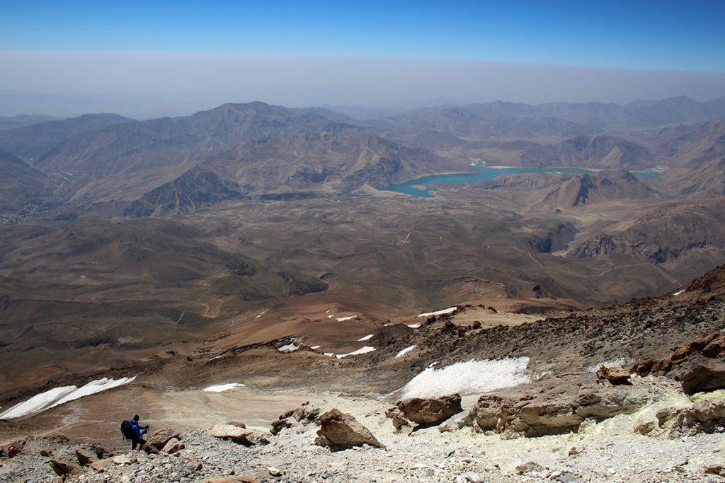 Widoki ze szczytu Damawand