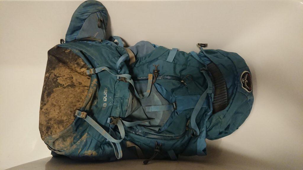 pranie plecaka