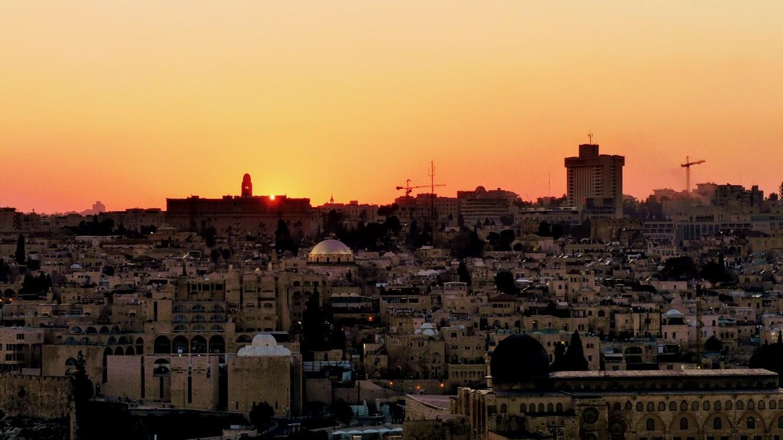 Izreael zachód słońca