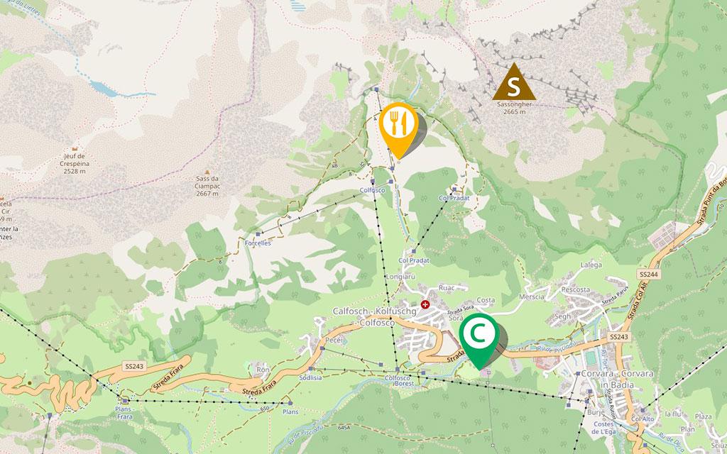 sasshonger mapa via ferrata