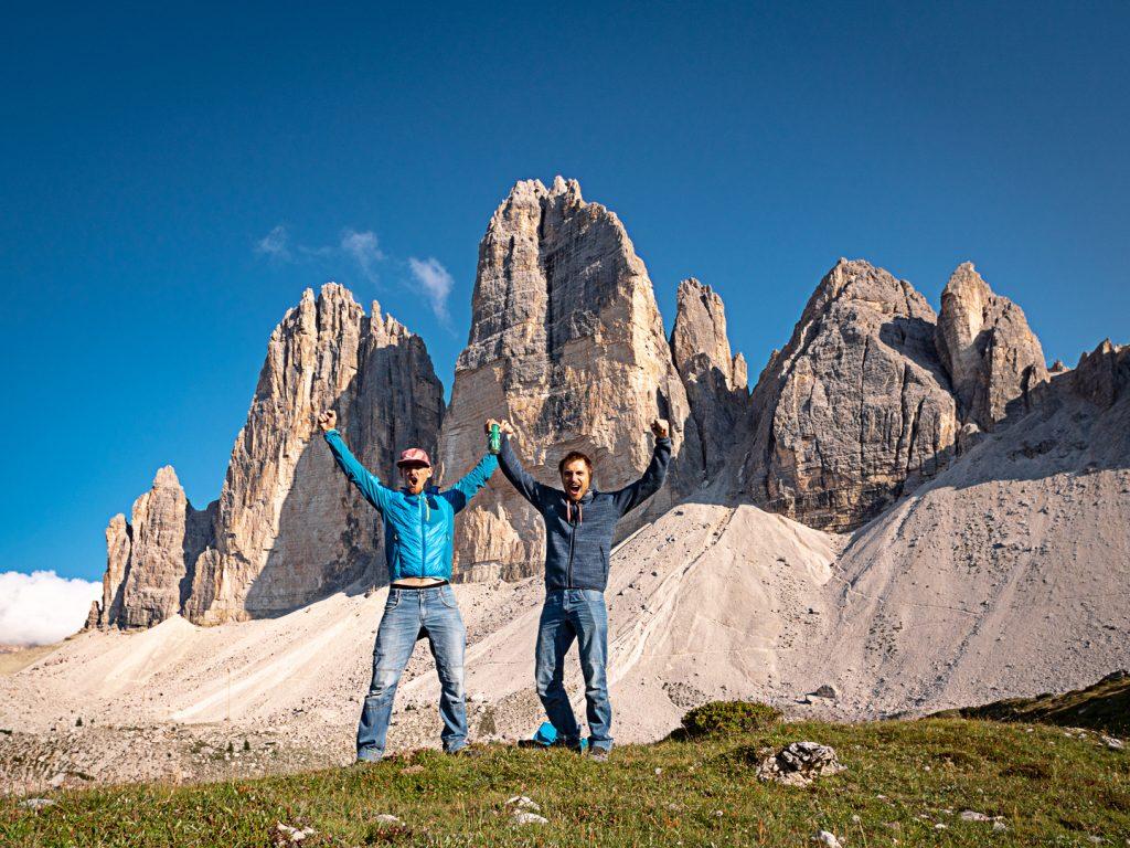 Alpine Wall Tour na tle Tre Cime di Lavaredo
