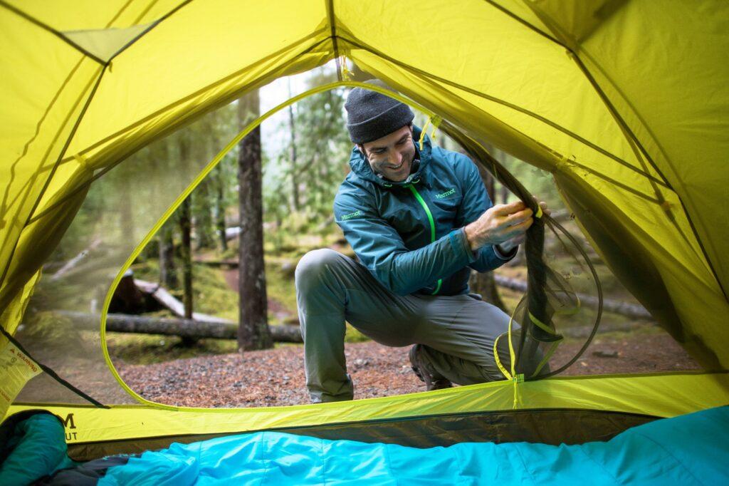 Marmot śpiwór i namiot