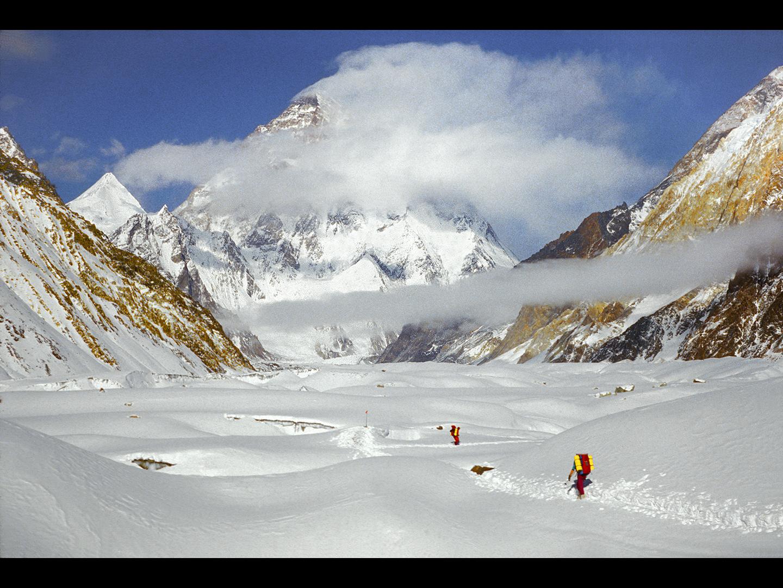 K2 widziane z lodowca Baltoro