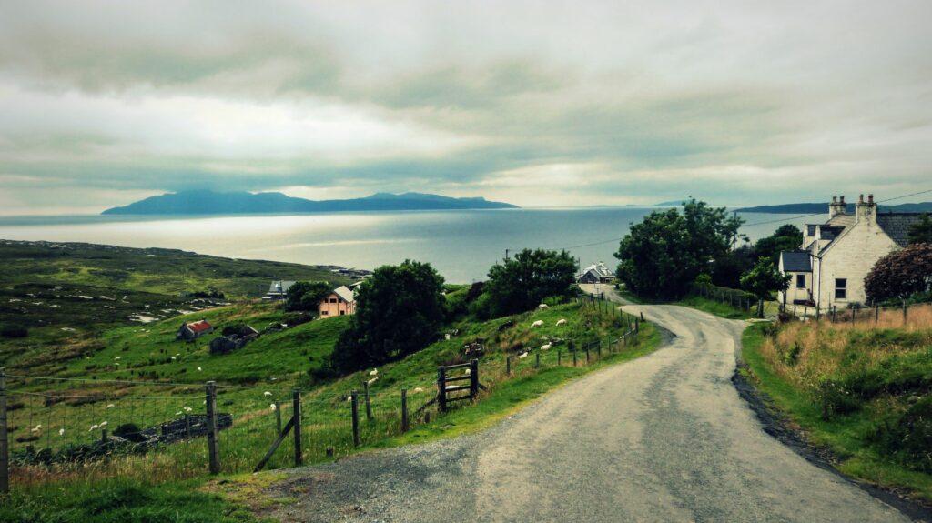 Szkocka wioska na wyspie Skye