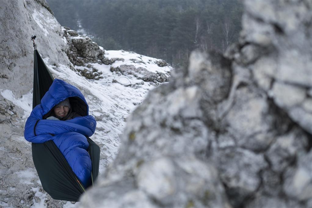 aura biwak zimowy śpiwór puchowy