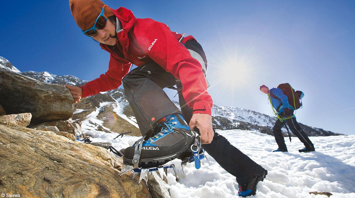 Salewa buty trekkingowe na zimę raki