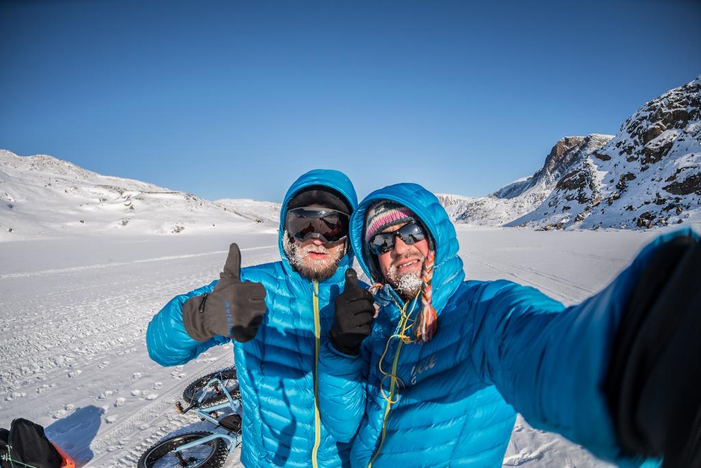 Jakub Rybicki i Paweł Wicher podczas zimowego wyjazdu