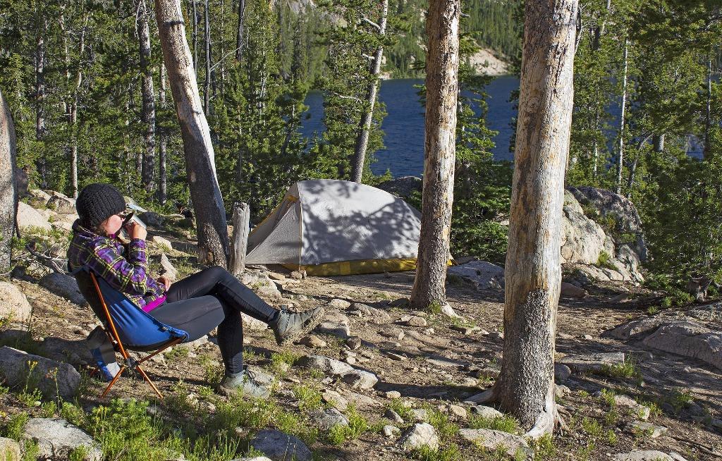 Krzesło turystyczne na campingu