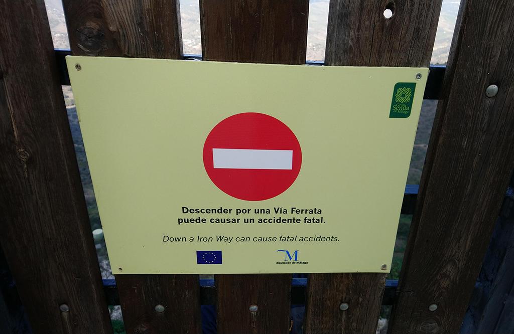 zakaz otwierania furki, ferraty są jednokierunkowe