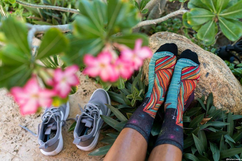 Kolorowe skarpety Smartwool na lato