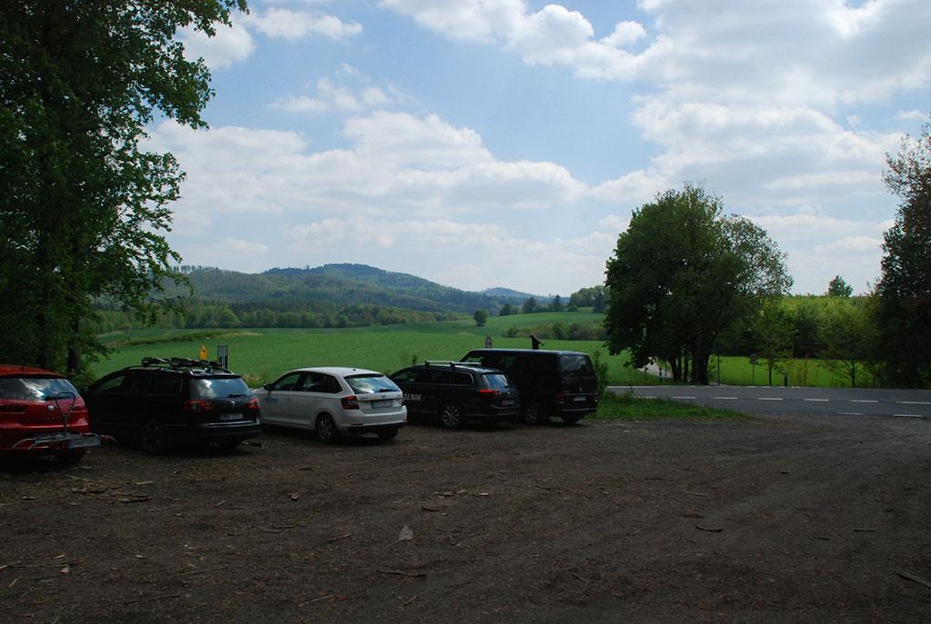 parking na przełęczy Kłodzkiej