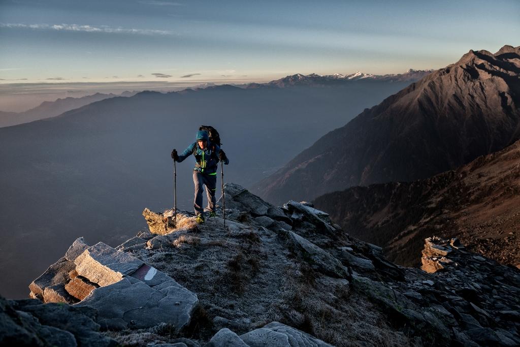 Wędrówka po grani w górach
