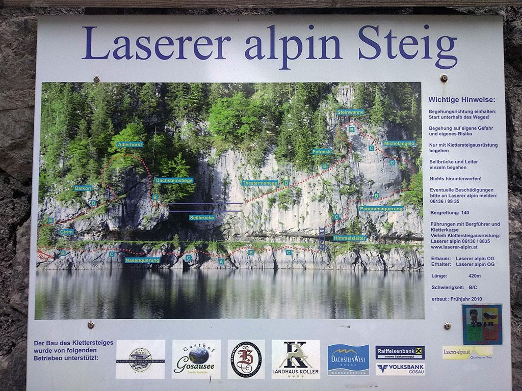 zdjęcie na ferratę Laserer alpin z zaznaczonymi trudnościami