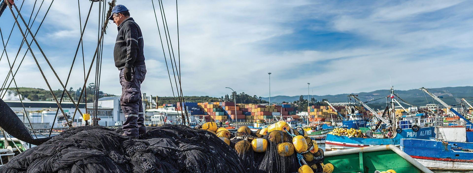 Recykling sieci rybackich Patagonia