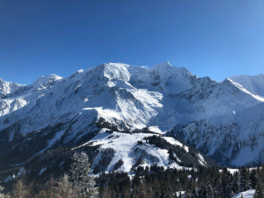 Mont Blanc - najwyższy szczyt Alp