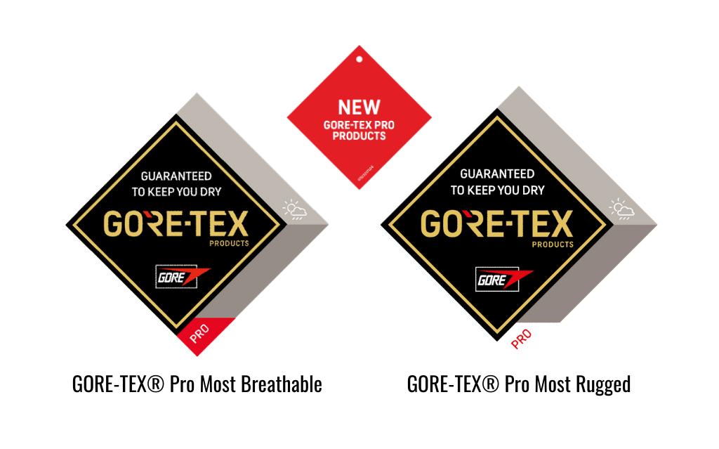 Metki w produktach z nowym GORE-TEX Pro