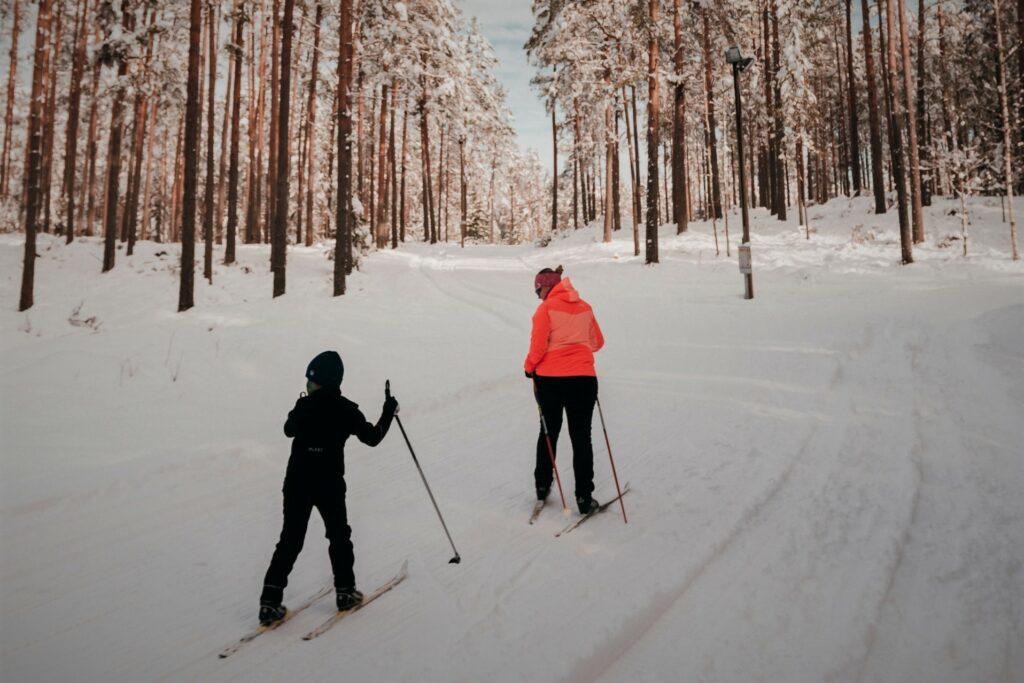 narty biegowe z dzieckiem